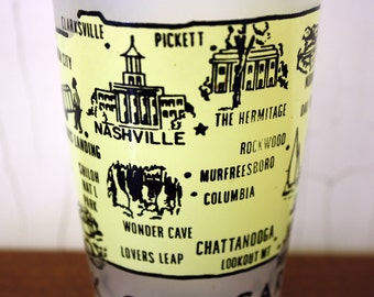 "Vintage Frosted Tennessee ""Rock City Gardens"" Souvenir Glass (E4542)"