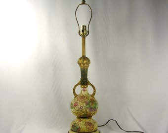 Table Lamp Antique Royal Bonn Hand Painted Porclain Vase 1900s