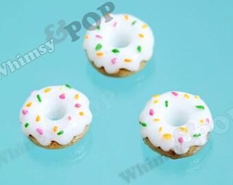 5 - Kawaii Candy Sprinkles Cake Doughnut Donut Decoden Resin Flatback Cabochons, Donut Cabochons,16mm x 7mm (R6-001)