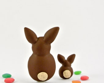 Rabbit brooch - Fun Easter bunny jewelry in polymer clay - Spring animals