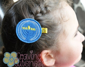 Menorah Hair Clip- Meet Miss Norah (Perfect for Hanukkah)