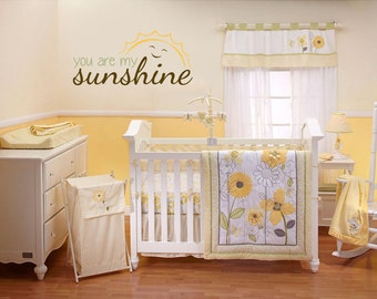 Exceptionnel You Are My Sunshine   Smiling Sun Vinyl Wall Decal
