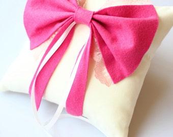 Wedding Ring Pillow, Cushion, Linen Pillow, Flower Pillow, Wedding Pillow, Ring Pillow