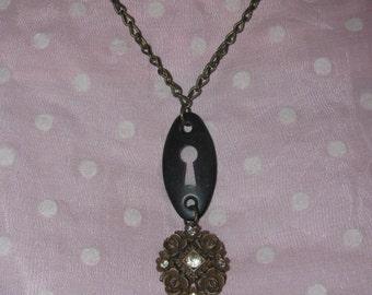 Reworked Vintage Keyhole Necklace
