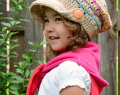 CROCHET PATTERN - Summer Slouchy - crochet slouchy hat pattern, crochet hat pattern (Toddler Child Adult sizes) - Instant PDF Download