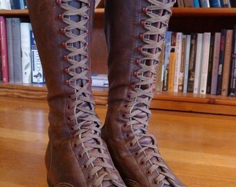 Womens Tall Lace Up Riding Boots 98