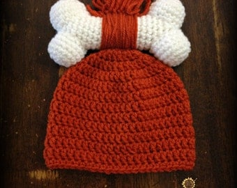 Pebbles Flintstone hat -Sizes Newborn to Toddler