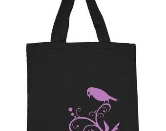 Classy Pretty Bird Tote - FREE Domestic SHIPPING  - Great Gift