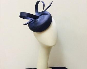 Navy blue parasisal headpiece