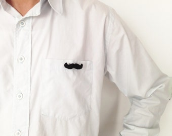 Fathers Day Mustache Brooch Pin Mustachio Brooch Pin Moustache Pin Felt Brooch Pin Kawaii Minimalist Black Father's Day Pin