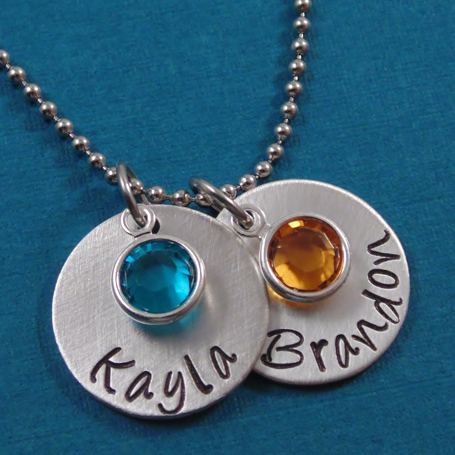 Personalized hand stamped necklace for mom by heartfelttokens for How do you make hand stamped jewelry