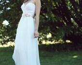 Sample Sale Short Lace Wedding Dress, Simple Lace Wedding dress, Cotton Wedding Dress, Simple Wedding Gown, VEGAN Reception Dress