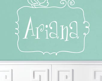 Name Decal For Nursery - Monogram Decal - Children's Wall Decal - Baby Girl Nursery Wall Decal - Nursery Decal