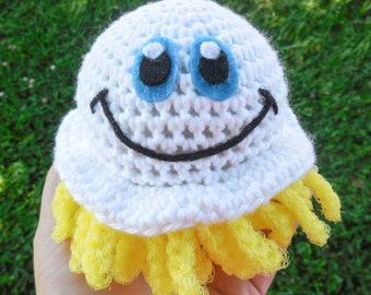 Crochet Pot Scrubber - Mr. Scrubbles - Crochet Sponge - Nylon Dish Scrubbie Tentacles