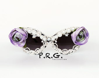 Purple Rose Cat eyed sunglasses