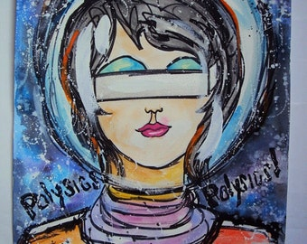 POLYSICS (in Space) Galaxy Watercolor & Acrylic Painting