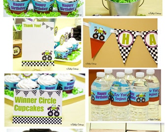 Monster Truck Birthday Party Ready To Go Package Printable DIY Package