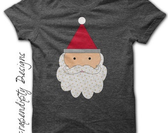 Iron on Christmas Shirt PDF - Santa Iron on Transfer / Toddler Christmas Outfit / Santa Claus Shirt / Girl Christmas Dress / Digital IT294