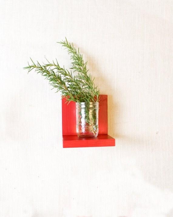 Floating Shelf - Sconce Shelf - Shelves - Wall Storage - Bookshelves - Red, White, Eggplant, Aqua, Navy, Custom Color Options - Simple Shelf