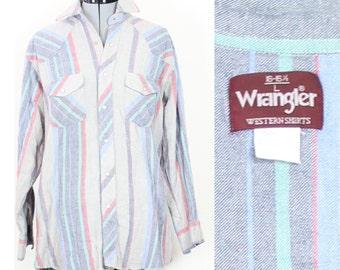 SALE Vintage Retro Wrangle Longsleeve Flannel