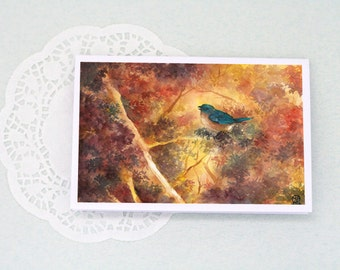 GREETING CARD: Fire Leaves (Blank inside, 98x148 mm)