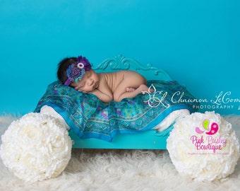 Purple Baby Headbands - Baby Girl Headbands - Infant Headbands - baby hair accessories - Baby headbands - Newborn Photo Outfit - Baby Bows