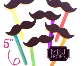 Set of 12 MINI Props - Kid Friendly Mustaches on a stick - Photo Booth Props