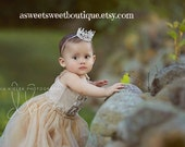 First Birthday Crown Newborn Crown Newborn Tiara Newborn Photo Prop Newborn Headband