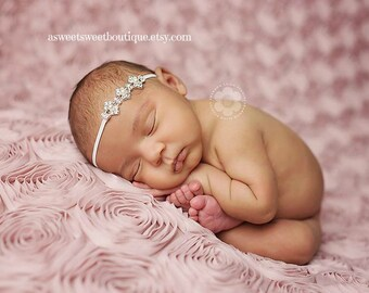 Baby Headband Baptism Christening Headband Baby Headband Headband For Baby Baby Bling Rhinestone And Pearl Headband Baby Rhinestone Headband