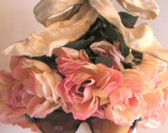 Vintage Hat,Floral,Spring,Roses,Garden Party,Tea Party.
