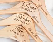 1 - Personalized Groom/Groomsman Hanger - Engraved Wood Hanger