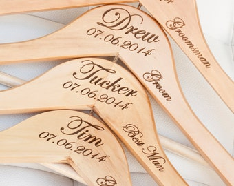 1 - Personalized Groom/Groomsman Hanger - Engraved Wood Hanger