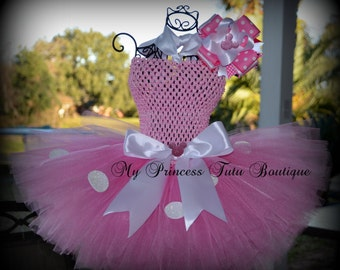 Minnie Mouse Tutu Dress Pink Polka Dot Minnie Mouse Tutu