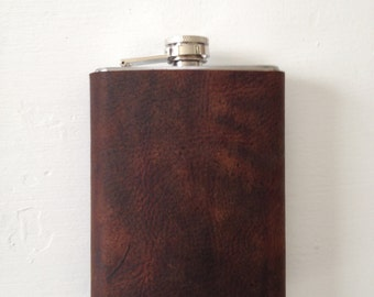 The Classic Leather Flask