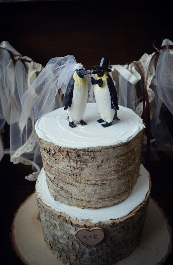 Penguin Wedding Cake Topper Penguin