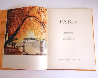 Paris vintage book photography text 1960