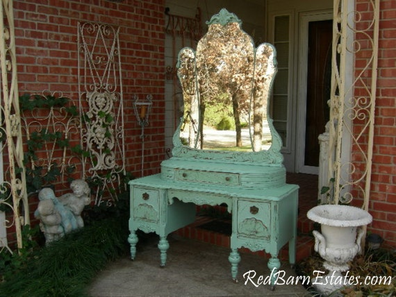 Like this item? - VANITY Custom Order An Antique Dresser Shabby Chic Painted