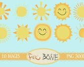 10 Digital Sun Clipart