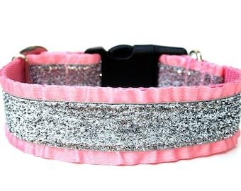 """Ruffle Dog Collar 1.5"""" Glitter Dog Collar"""