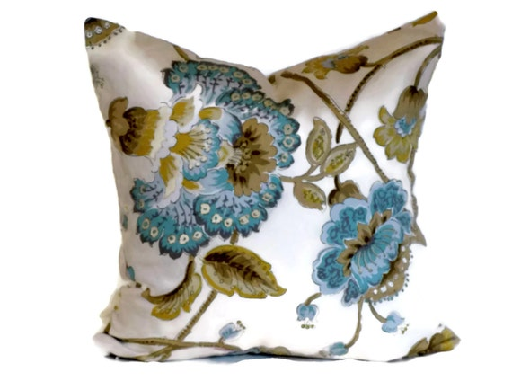 Jacobean Decorative Pillows : Duralee Jacobean Decorative Pillow Throw by MissEvaDivaDesigns
