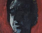 SALE - Original Painting - 'Boy In The Dark' by Peter Mack