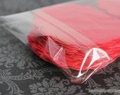 """175 Clear 3"""" x 3"""" Bags - Cello Polypropylene -  Re-sealing"""