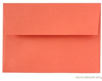 12 Persimmon Coral Red A6 Envelopes