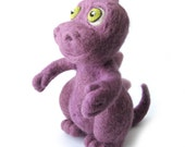 RESERVED LISTING Needle Felted Purple Dinosaur