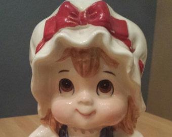 Vintage Lefton Piggy Bank 4th of July Vintage Holiday Patriotic Belle Vintage Ceramic