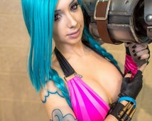 Jinx Tattoos - temporary tattoo complete set for League of Legends Cosplay