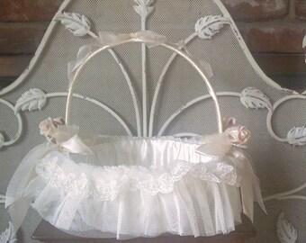 restyled flowergirl basket