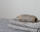 LINEN TEA TOWELS / black grid