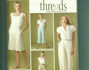 Simplicity 3756 Slightly Raised Waist Gauchos Capri Pants & Shorts Sizes 20W to 24W