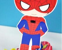 Classic Superhero Spider Boy  Centerpiece